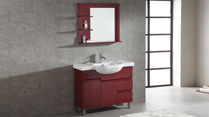 实木现代浴室柜组合落地柜洗手洗脸盆柜卫生间洁具990mm 1066
