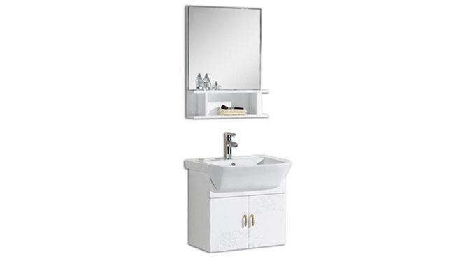 简约现代浴室柜组合洗漱台洗脸盆镜柜卫浴柜实木储物吊柜600mm 1056