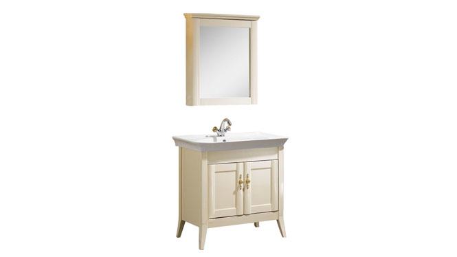 浴室柜现代简约小户洗手脸盆组合实木落地式收纳柜800mm1055