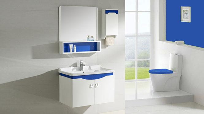 简约现代浴室柜 卫浴柜 实木洗漱柜 洗脸洁具台盆柜组合吊柜800mm600mm1000mm 1054
