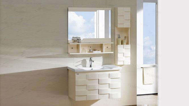 实木洗手浴室柜 组合方面盆现代简约整体实木卫浴柜吊柜700mm600mm800mm900mm1000mm 1043