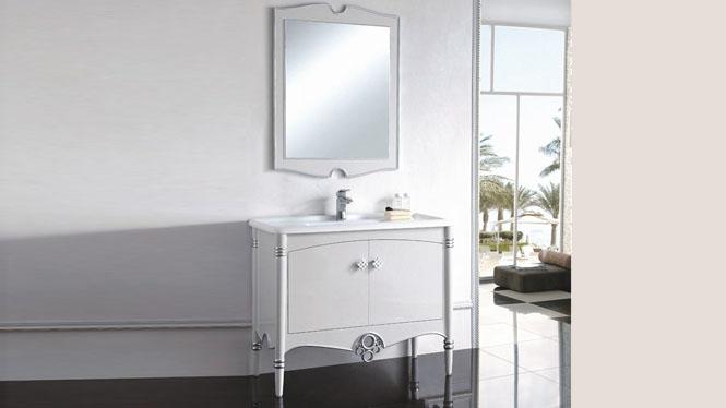 实木浴室柜洗手盆组合卫生间实木镜柜洗漱台落地柜洗脸盆柜1000mm900mm800mm 1040