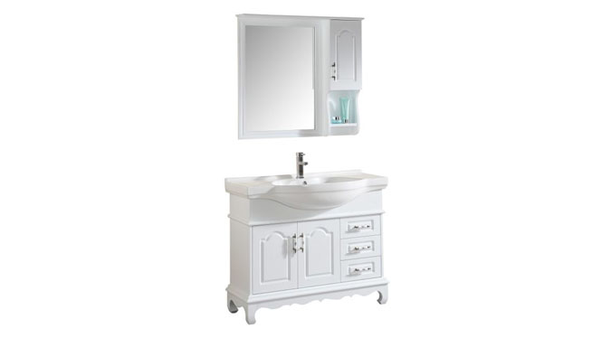 简约现代浴室柜欧式卫浴柜实木洗手盆洗脸盆柜组合洗漱台1100mm800mm900mm1000mm1200mm 1037白色