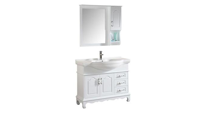 简约现代浴室柜欧式卫浴柜实木洗手盆洗脸盆柜组合洗漱台1000mm800mm900mm1100mm1200mm 1037白色