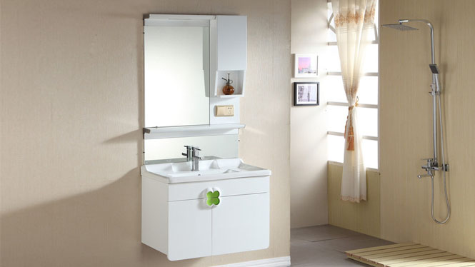 浴室柜现代简约卫生间洗漱台洗手洗脸台盆实木卫浴柜组合吊柜800mm600mm1000mm 1035