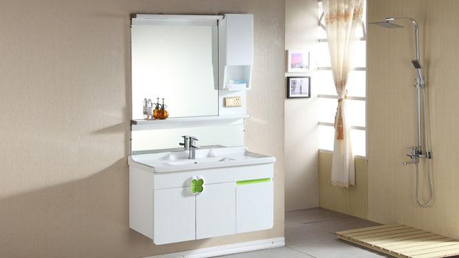 浴室柜现代简约卫生间洗漱台洗手洗脸台盆实木卫浴柜组合吊柜1000mm600mm800mm 1035