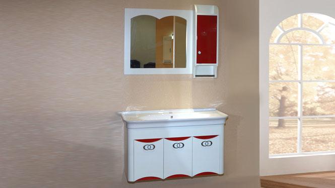 简约现代浴室柜组合 实木卫浴柜吊柜 洗脸台盆柜组合1000mm 1025