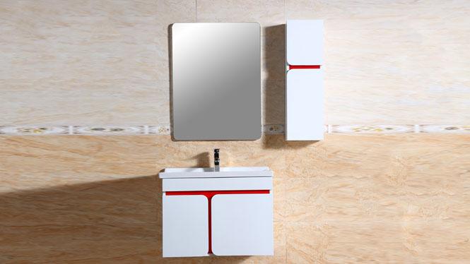 简约实木浴室柜组合洗手台盆柜整体卫浴柜陶瓷台盆卫生间吊柜800mm600mm700mm 1010
