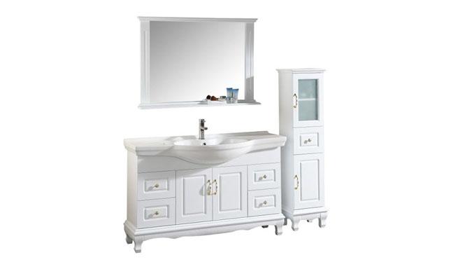 浴室柜落地柜现代简约实木浴室柜洗手洗脸盆卫浴镜柜组合1300mm600mm700mm800mm900mm1000mm 1009