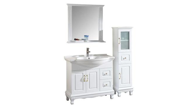 浴室柜落地柜现代简约实木浴室柜洗手洗脸盆卫浴镜柜组合1000mm600mm700mm800mm900mm1300mm 1009