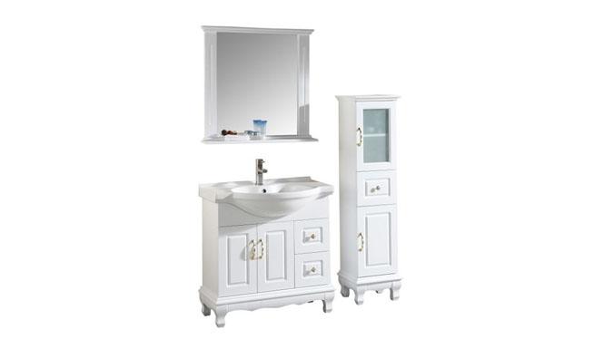 浴室柜落地柜现代简约实木浴室柜洗手洗脸盆卫浴镜柜组合800mm600mm700mm900mm1000mm1300mm 1009