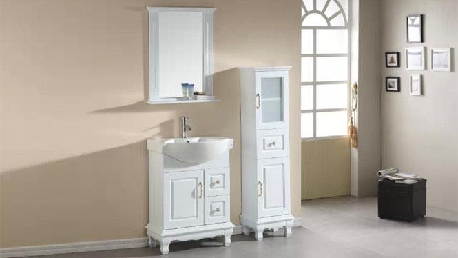 浴室柜落地柜现代简约实木浴室柜洗手洗脸盆卫浴镜柜组合600mm700mm800mm900mm1000mm1300mm 1009