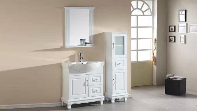 浴室柜落地柜现代简约实木浴室柜洗手洗脸盆卫浴镜柜组合700mm600mm800mm900mm1000mm1300mm 1009