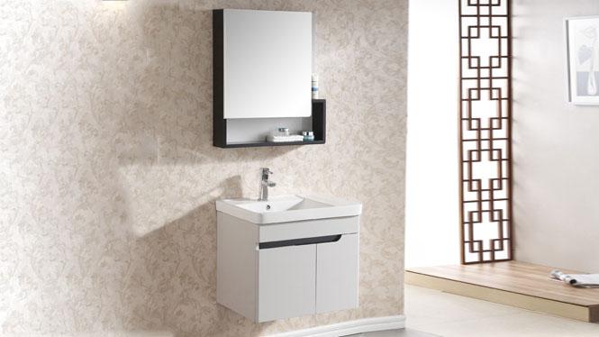 浴室柜整体洗脸盆柜组合吊柜台盆实木卫生间洗手台洗手盆600mm 1006