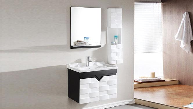 浴室柜组合现代简约挂墙式吊柜欧式实木卫浴柜洗漱台洗脸盆柜800mm600mm700mm1000mm  1001