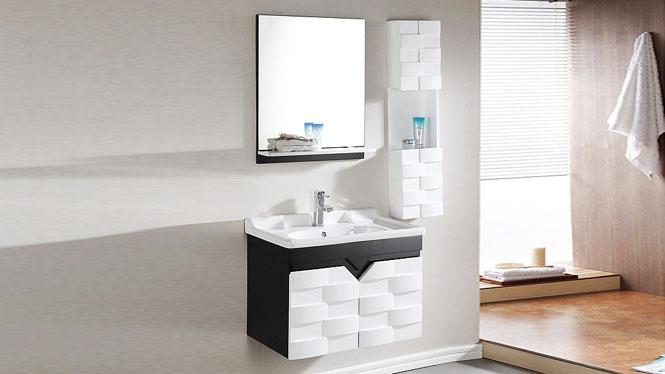 浴室柜组合现代简约挂墙式吊柜欧式实木卫浴柜洗漱台洗脸盆柜600mm700mm800mm1000mm 1001