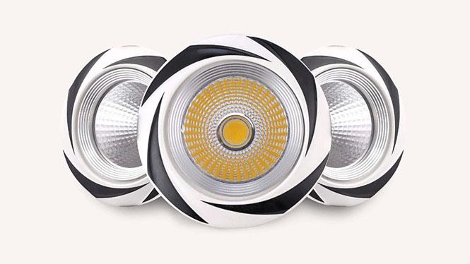 走廊吊顶灯7公分led射灯天花灯12W全套现代美式照画灯COB陶瓷孔灯W001