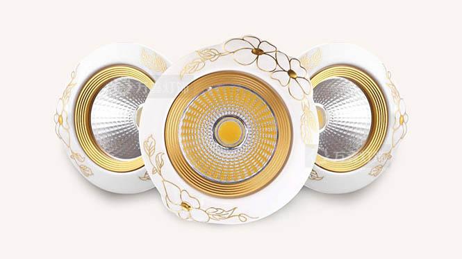 聚光射灯led5W瓦陶瓷COB天花灯服装店客厅吊顶走廊过道灯牛眼灯具W003A