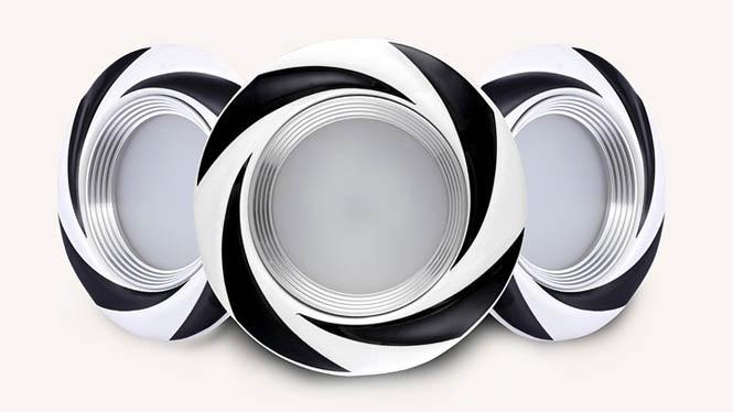 LED筒灯现代欧式陶瓷天花灯3W7.5公分2.5寸客厅吊顶背景墙灯M001