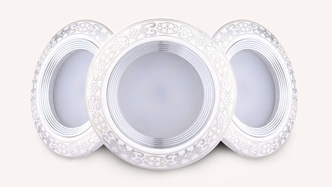 欧式LED天花灯陶瓷筒灯全套客厅卧室吊顶孔灯3W2.5寸7.5cm M005B