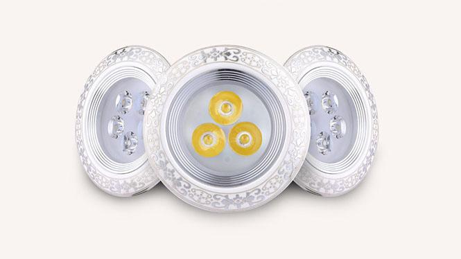 欧式猫眼灯led陶瓷射灯3W7W12W珠宝柜台聚光孔灯酒吧酒柜客厅廊灯L005B