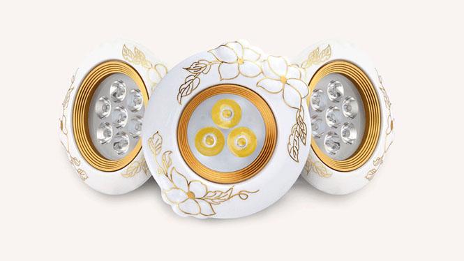 欧式天花灯全套led嵌入式复古小射灯3W5W7瓦玄关天花板灯陶瓷灯具L003