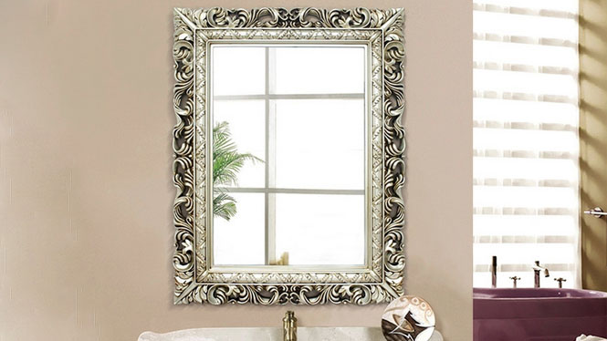 卫浴梳妆镜 高质量欧式镜子镜台 浴室镜子可定制多色KT060