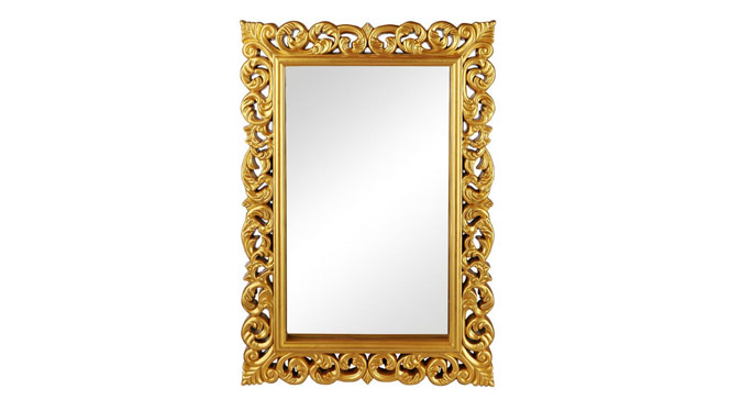 形浴室镜 KTV酒店玄关壁炉装饰镜框 大号壁挂卫生间镜子KT073