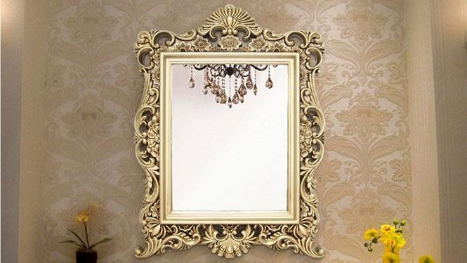 浴室镜子卫浴镜 洗漱台镜子 欧式方形边框镜 KTV镜子KT082