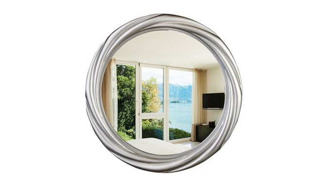 高档化妆镜 可悬挂小镜子 家用美容镜 浴室圆形镜KT072