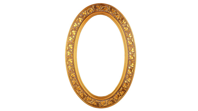 台式化妆镜 家居用品工艺品 复古大镜子 创意化妆镜KT061
