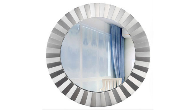 高档化妆镜 时尚美容镜 复古圆形小镜子KT062