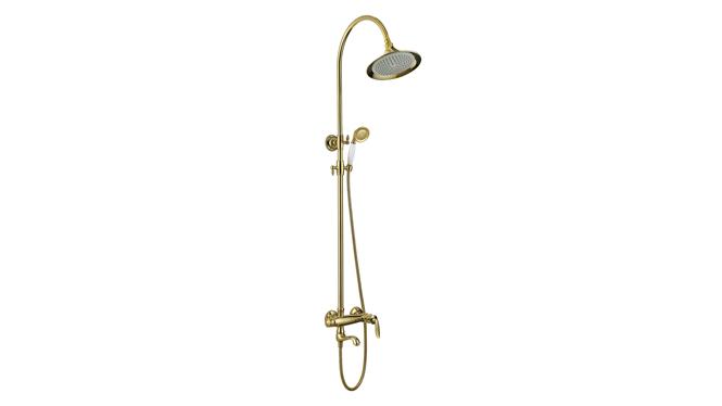 欧式花洒套装全铜 金色欧式花洒 淋浴花洒龙头 全铜淋浴花洒K13