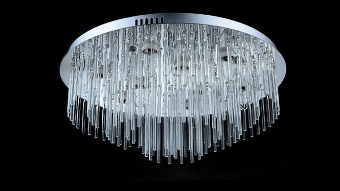 LED吸顶灯客厅灯圆形水晶灯饰卧室灯具大厅欧式温馨浪漫大气现代1796