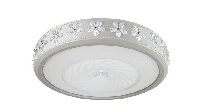 简约圆形LED主卧室吸灯饰房间餐厅客厅吸顶灯具温馨大气变色浪漫6005