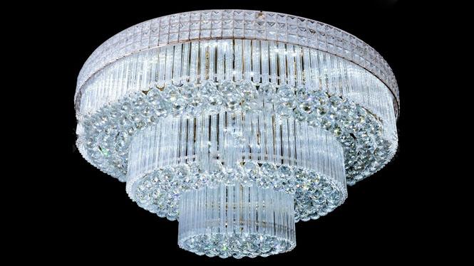 吸顶灯 圆形 传统水晶吸顶灯 客厅 吸顶灯 S金水晶灯HR8801