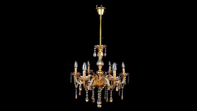 欧式LED水晶吊灯 玻璃弯管水晶灯 金色水晶灯酒店工程吊灯HR3305
