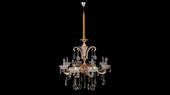 锌合金蜡烛水晶灯 仿玉石款水晶灯 欧式水晶吊灯HR3316