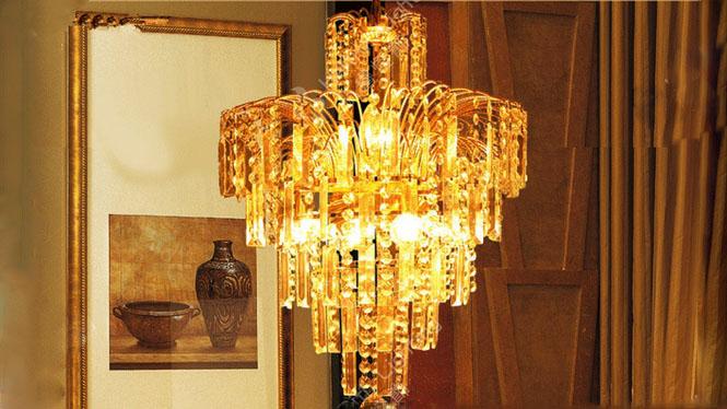 传统水晶灯 客厅吊灯 楼梯灯 吊灯 现代水晶吊灯HR6609