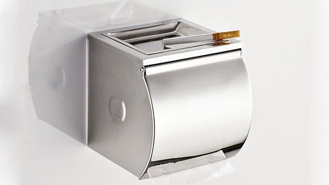 不锈钢浴室卫生间擦手厕所卫生纸盒纸巾盒防水厕纸盒卷纸架LJ605
