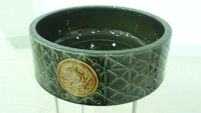 陶瓷艺术台盆面盆台上盆洗脸盆--直筒瓦当D-36