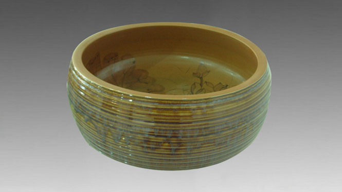 圆形陶瓷艺术盆 台上盆 台盆整体 洗手盆洗面盆D-27