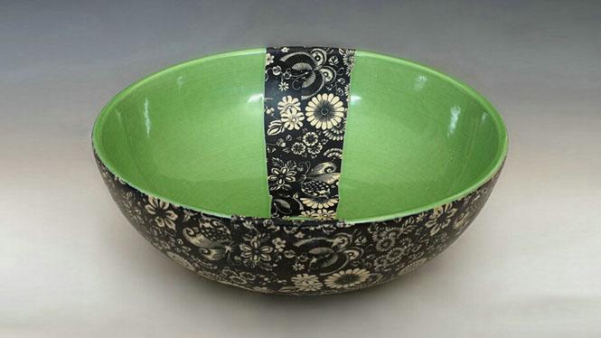 现代简约个性陶瓷艺术台盆 彩绘台盆面盆Q-04