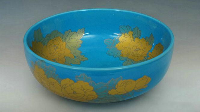 卫生间现代简约式陶瓷盆洗脸盆台盆艺术面盆Y-14