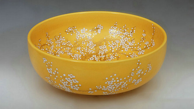 厨卫陶瓷盆艺术台盆洗脸盆黄金水花盆洗面盆Y-21