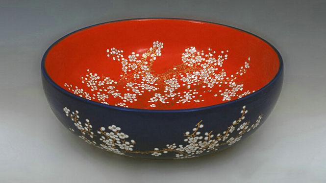 陶瓷艺术台盆 洗手洗脸台上盆 黑红陶瓷艺术盆Y-22