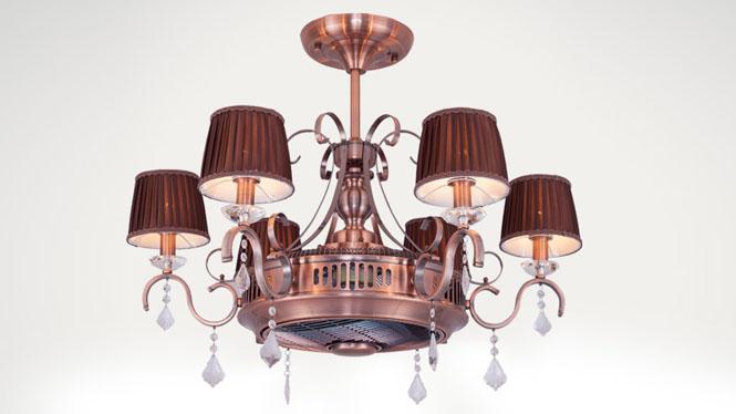 新品爆款负离子客厅餐厅两用隐形吊灯吊扇灯风扇灯KBS-1806-1