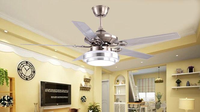 木叶吊扇灯豪华水晶 简约 现代 欧式风扇灯 装饰风扇 客厅电风扇KBS-5206
