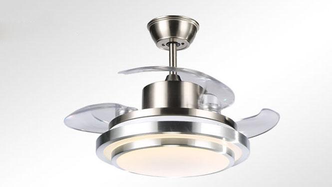 隐形扇新品爆款促销双层铝四色变光配遥控客厅隐形吊扇灯KBS-Y4203