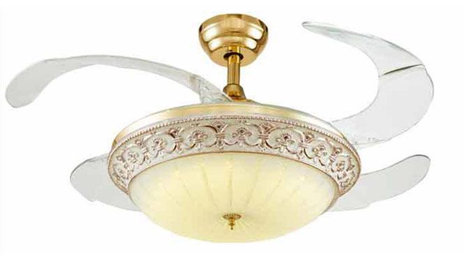 优质合板欧式奢华古典客厅餐厅隐形风扇灯吊扇灯吊灯配遥控KBS-4210